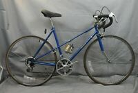 "1980 Sanwa Mixte Vintage Touring Road Bike 53cm Small 27"" City Steel USA Charity"