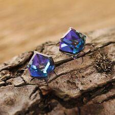 Bermuda Blauer Kristall Sterling Silber Ohrstecker Verwenden Von Swarovski