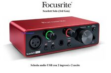 FOCUSRITE Scarlett Solo 3rd Gen Scheda Interfaccia Audio MIDI USB 2in - 2out
