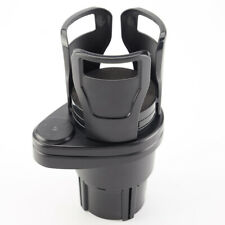 Multifunctional vehicle-mounted one-in-two water cup holder,black