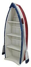 Shabby- Shelf IN Bootsform- With Paddeln- Wooden Coloured 113 CM