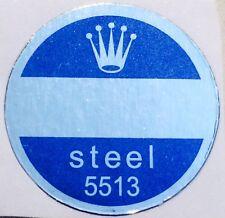 ROLEX VINTAGE Caseback Certificate Sticker Blue 5513 Submariner Steel Bollino