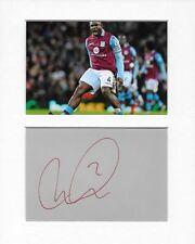 Micah Richards Aston Villa genuine authentic autograph signature and photo AFTAL