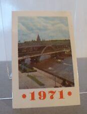 Soviet, USSR 1971 mini calendar A Moscow Bridge