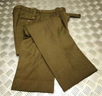 Genuine Old Pattern British Army No2 Trousers Zipper Fly Like WWII Re-enactment