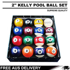 2'' Pool Balls Set Sale for All-Size Pool Table Billiards Free AU Postage