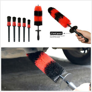 "6 Pcs Universal 18"" Car Motorcycle Wheel Brush Rim Tire Cleaner Tool 5 Size"