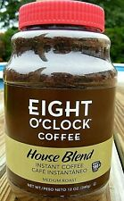 Eight O'Clock HOUSE BLEND INSTANT COFFEE 12oz Discontinued Collectible exp 02/17
