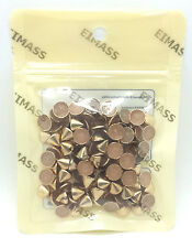 Low Price Premium Quality Spike Cone Hot Fix Iron on Metal Studs for Bags Shoes
