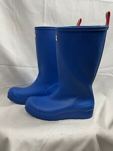 HUNTER ORIGINAL RUBBER WATERPROOF WOMEN'S BOOTS Color Blue Size 9