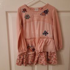 Girls Pink Frilly Floral Dress Next, 3-4 Years