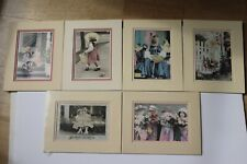 6 Children's Matted Photos-Girls Playing Dress Up Picture-8 x 10-Vintage Clothes