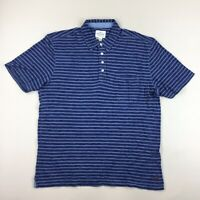NWT True Grit Indigo Fire Striped Short Sleeve Polo Shirt with Pocket Size XL