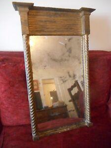 Antique Original 19th Century Regency Pier Mirror c1830 English 83cm x 51cm