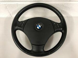 BMW E90 E91 3 SERIES SE 2005 - 2011 BLACK LEATHER MULTI FUNCTION STEERING WHEEL