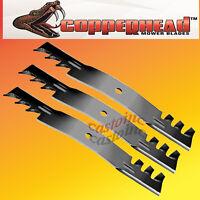 "Copperhead Commercial Heavy Duty Multch Blades 3 Blades  60"" Cut 7-Iron Deck.USA"
