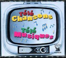 TÉLÉ CHANSONS TÉLÉ MUSIQUES - GÉNÉRIQUES TÉLÉ -  RARE ! 3 CD COMPILATION
