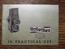 Rolleiflex 4 X 4 in practical use Manual Guide Instruction English