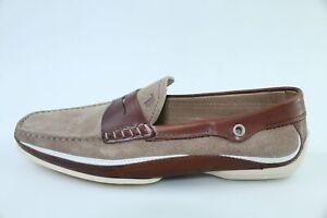 scarpe uomo TOD'S 41,5 mocassini marrone camoscio pelle DR103