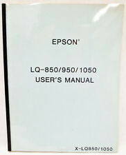Seiko Epson LQ-850/950/1050 Printer User's Manual