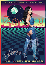 KACEY MUSGRAVES SIGNED OH WHAT A WORLD NASHVILLE 2019 TOUR POSTER AUTOGRAPH COA