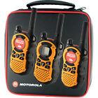 3X Motorola MT351R Walkie Talkie FRS GMRS 2-Way Radios Ni-MH Weather VibraCall