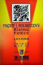 YNGWIE MALMSTEEN'S RISING FORCE & LITA FORD Original 1988 CONCERT POSTER