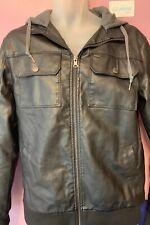 Dravus Faux Leather Jacket Black / Mens Medium / Bomber / EXCELLENT CONDITION