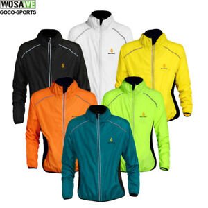 Mens Cycling Windproof Jacket High Visibility Running Top Coat High Visibility