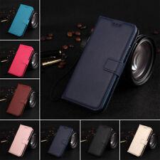 Para Samsung S5 S6 S7 S8 S9 Plus magnética de cuero PU con Billetera Abatible De pie Estuche Cubierta