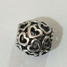 Authentic Pandora Sterling Silver Openwork Hearts Charm 790964
