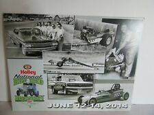 NHRA Holley Hot Rod Reunion Honorees Bowling Green 2014 Card Stock Photo 11X8.5