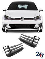 NEW VW GOLF MK7 GTI GTD 2012 - 2017 FRONT BUMPER LOWER FOG LIGHT GRILL PAIR SET