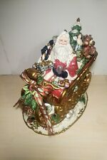 Fitz & Floyd Florentine Christmas Sleigh Centerpiece Cookie Jar 19/502 w/ Box