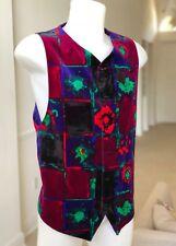 GIANNI VERSACE velvet & corduroy vest Abstract Painting print size Italian 52