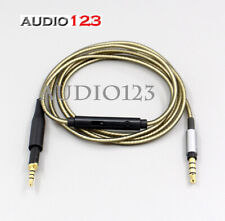 Silver Plated OFC Mic Volume control cord  cable For AKG K450 K451 K480 Q460