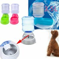 Fountain Bottle Food Dispenser Pet Water Drinker Cat Bowl Dog Automatic Feeder