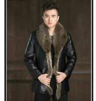 Genuine cowhide men's new style fur coat warm fur jacket