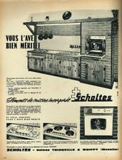 I - Publicité Advertising 1963 Elements de cuisine incorporés Scholtès