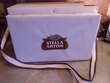 Vintage Stella Artois Canvas Picnic Basket Table Beach Cooler Very Nice