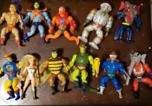 MotU Vintage He-Man 11 figures 81 heman skeletor SH various acc 13 mini comics +