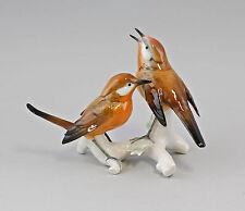 Porzellan Figur Vogel Rotkehlchen-Gruppe Ens 18x12,5cm 9941687