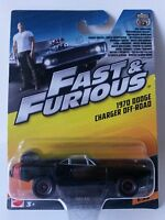1970 DODGE CHARGER OFF-ROAD FAST & FURIOUS #1/32 Mattel Diecast Car Metal 1:55