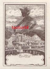 Ex Libris - Friedrich der Große Schloss Sanssouci Alte Fritz Grafik Bücher