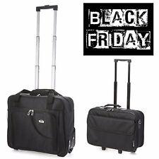BLACK  FRIDAY SALE Cabin Laptop Trolley Business Exec Hand Luggage Bag Black