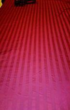 King Duvet Cover & 2 Standard Shams 100% Cotton Maroon on Maroon Stripe  MINT