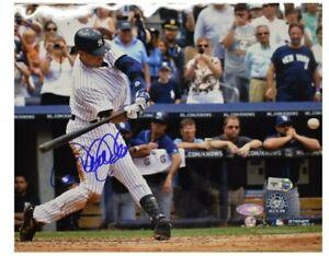 Derek Jeter New York Yankees Autographed 3000th Hit 8x10 Photo Steiner