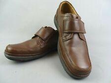 Clarks Mens Swift turn Brown H Wide Fitting Riptape Shoes Flexlight Uk 9.5