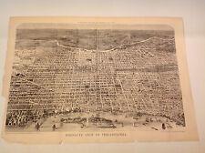 1876 RARE BIRD'S EYE VIEW PHILADELPHIA CENTENNIAL 22 X 33 HARPER'S WEEKLY