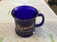 Foxwood casino cobalt blue advertising mug